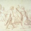 Elijah casting mantle over elisha - Overbeck