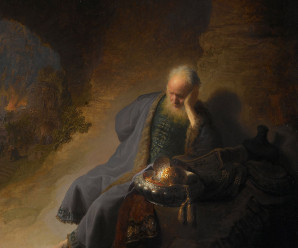 Jeremiah lamenting destruction of Jerusalem