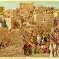 Jesus passing through villages on his way to jerusalem - tissot